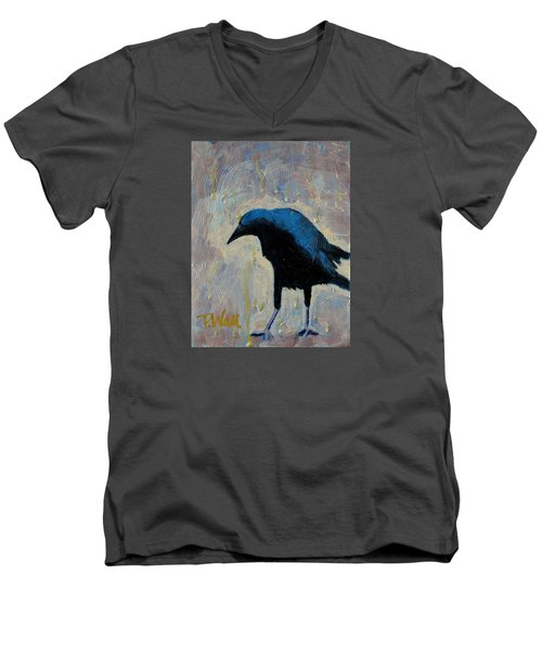 Men's V-Neck T-Shirt featuring the painting Struttin' by Pattie Wall