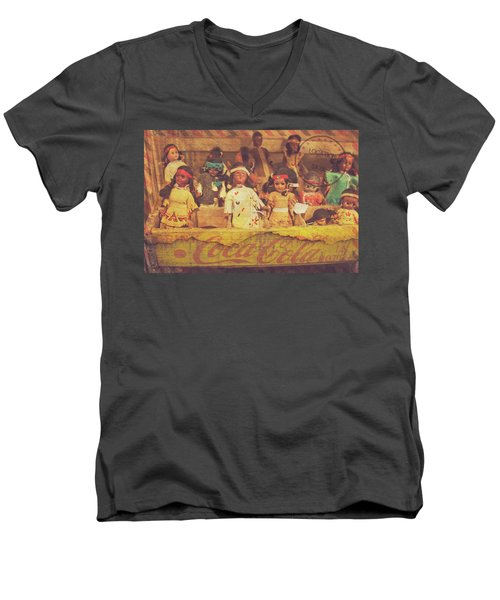 Stuck In This Box With Nothing To Drink Men's V-Neck T-Shirt by Toni Hopper