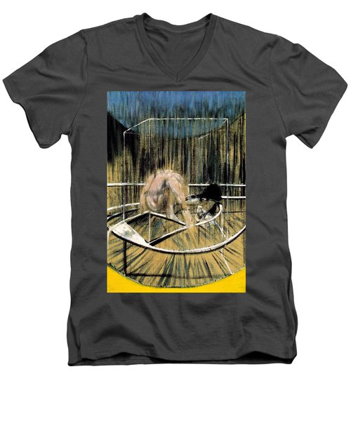 Study For Crouching Nude Men's V-Neck T-Shirt