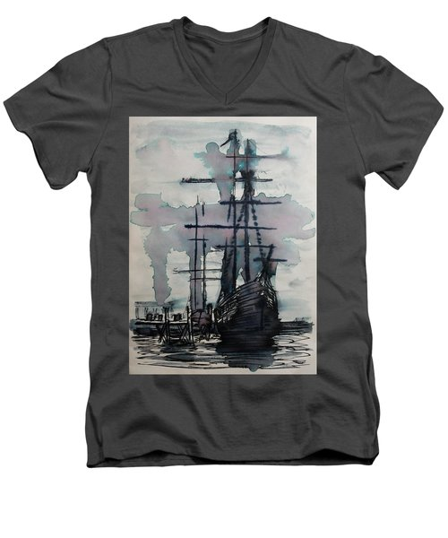 Study For Sailing Vessel Pandora Men's V-Neck T-Shirt