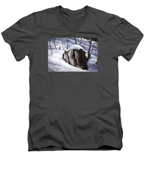 Stump Men's V-Neck T-Shirt by Elaine Malott