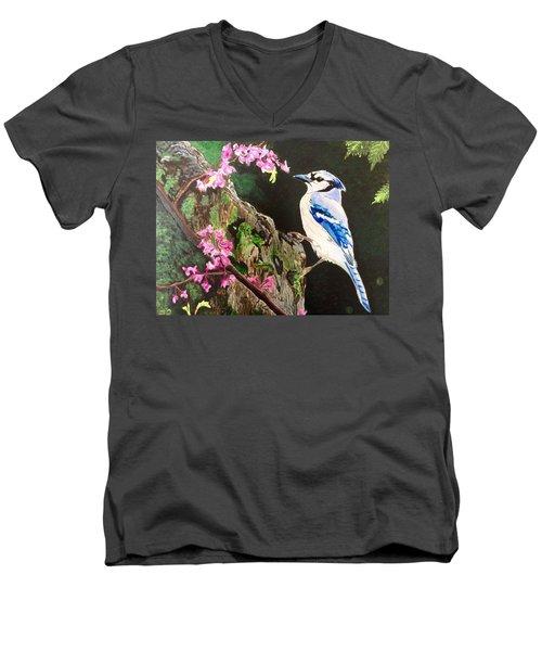 Stump Sitter Men's V-Neck T-Shirt