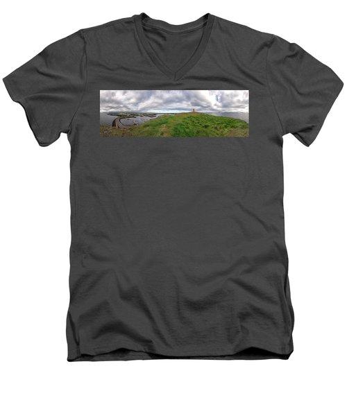 Stykkisholmur Harbor Pano Men's V-Neck T-Shirt