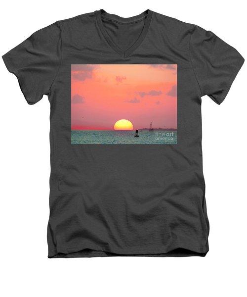 Submerge  Men's V-Neck T-Shirt by Expressionistart studio Priscilla Batzell