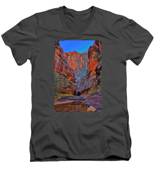 Subway Entrance Men's V-Neck T-Shirt by Greg Norrell