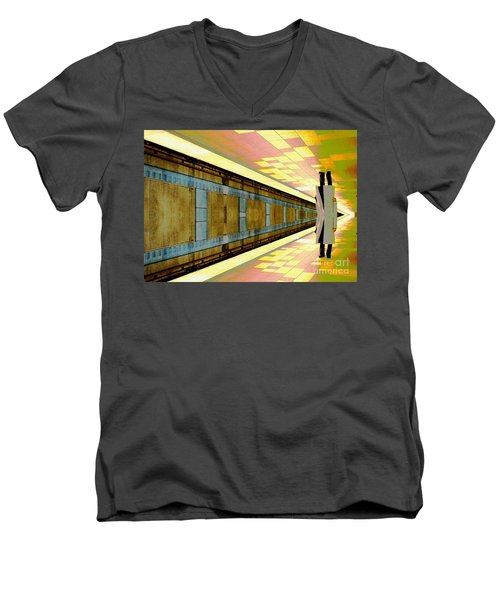 Subway Man Men's V-Neck T-Shirt