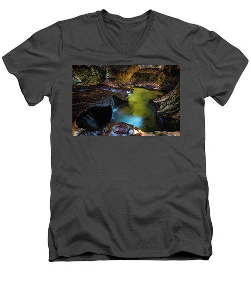 Subway Pools Men's V-Neck T-Shirt