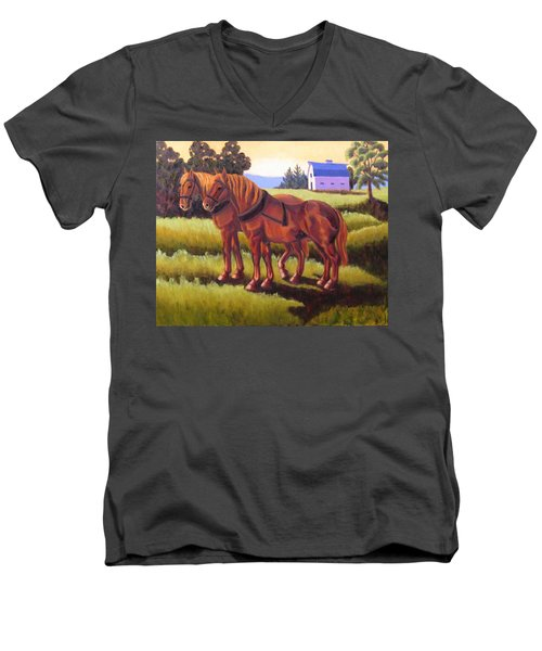 Suffolk Punch Day Is Done Men's V-Neck T-Shirt