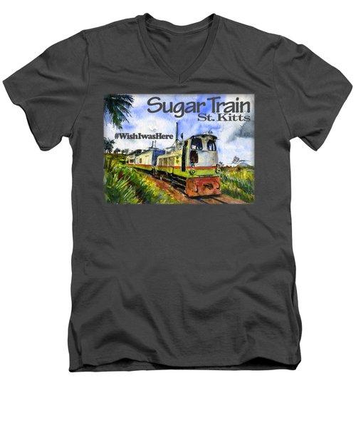 Sugar Train St. Kitts Shirt Men's V-Neck T-Shirt