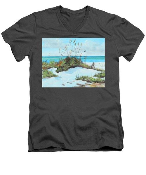 Sugar White Beach Men's V-Neck T-Shirt
