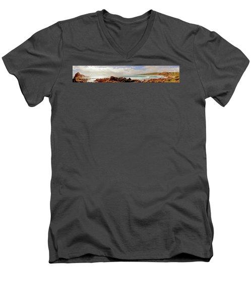 Sugarloaf Rock Panorama I Men's V-Neck T-Shirt
