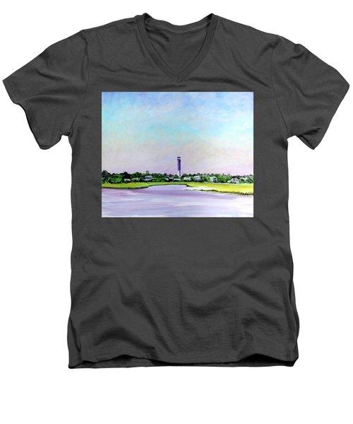 Sullivans Island Lighthouse Men's V-Neck T-Shirt