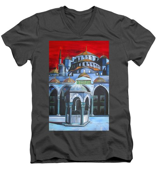 Sultan Ahmed Mosque Istanbul Men's V-Neck T-Shirt