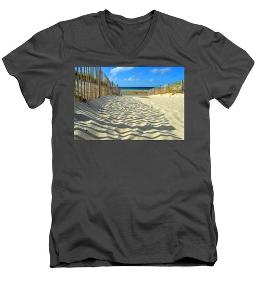 Sultry September Beach Men's V-Neck T-Shirt