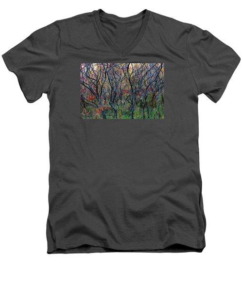 Sumac Grove Men's V-Neck T-Shirt by Steven Clipperton