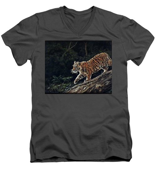 Sumatran Cub Men's V-Neck T-Shirt