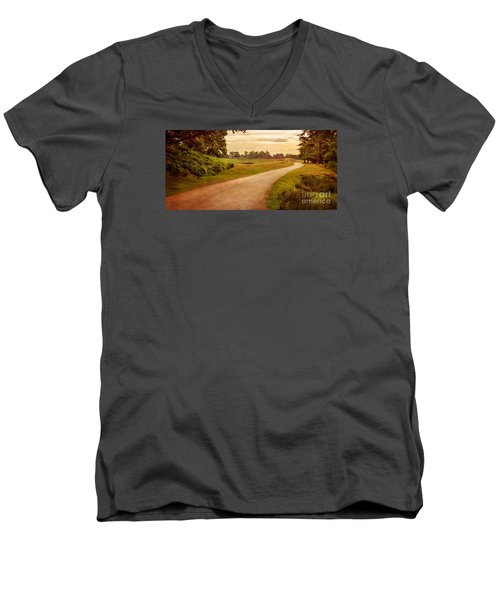 Summer At Bradgate Park Leicestershire Men's V-Neck T-Shirt by Linsey Williams