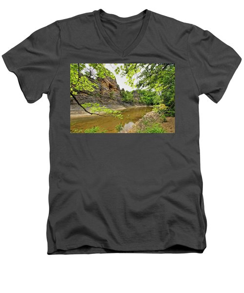 Men's V-Neck T-Shirt featuring the photograph Summer At The Pinnacles by Cricket Hackmann