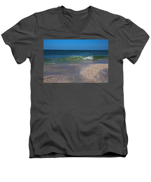 Men's V-Neck T-Shirt featuring the photograph Summer At The Shore by Michiale Schneider