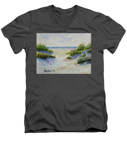 Summer Beach Men's V-Neck T-Shirt