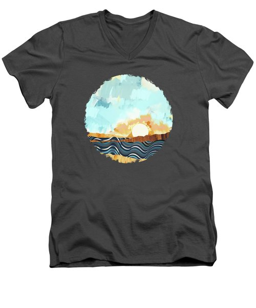 Summer Beach Sunset Men's V-Neck T-Shirt