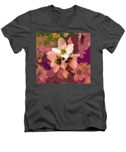 Summer Blossom Men's V-Neck T-Shirt
