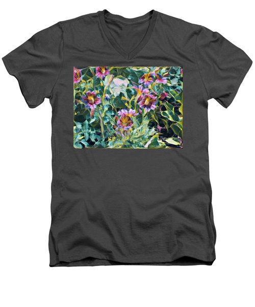 Summer Blossoms Men's V-Neck T-Shirt