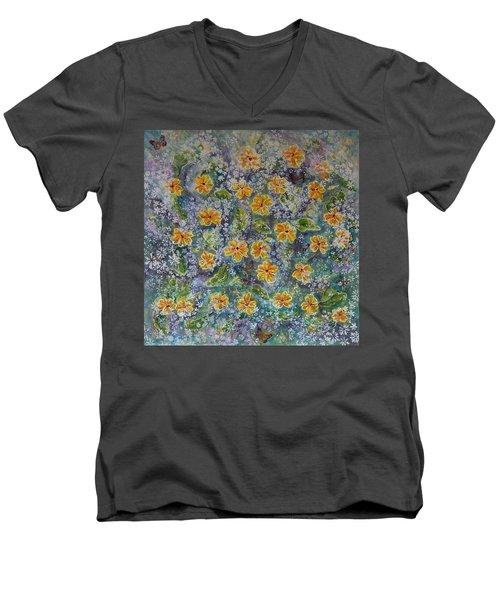 Spring Bouquet Men's V-Neck T-Shirt by Theresa Marie Johnson