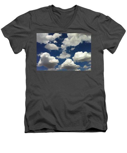 Summer Clouds In A Blue Sky Men's V-Neck T-Shirt