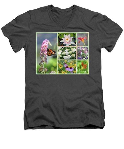 Summer Collage Men's V-Neck T-Shirt