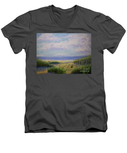 Summer Day At The Beach Men's V-Neck T-Shirt