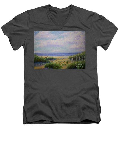 Summer Day At The Beach Men's V-Neck T-Shirt