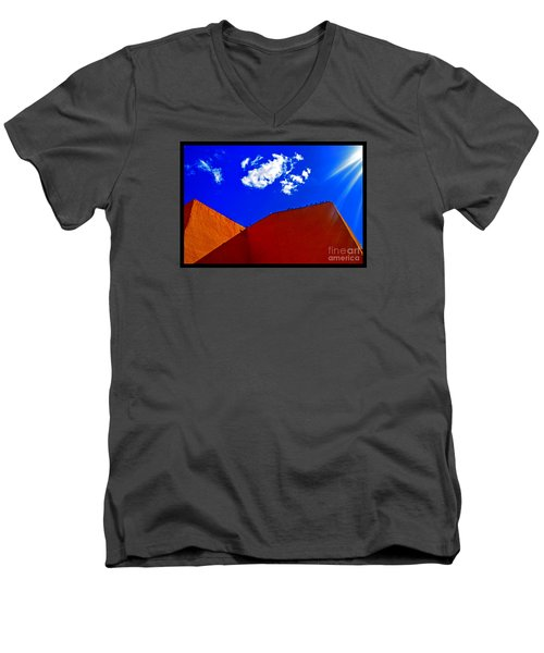 Men's V-Neck T-Shirt featuring the photograph Summer Day In The New World by Susanne Still