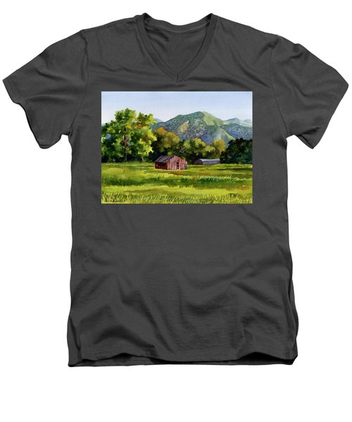 Summer Evening Men's V-Neck T-Shirt by Anne Gifford