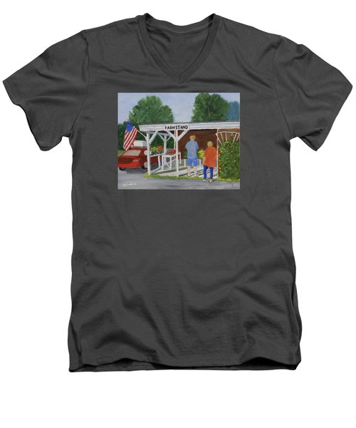 Summer Farm Stand Men's V-Neck T-Shirt