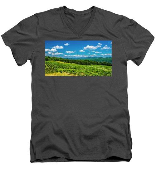 Summer Fields Men's V-Neck T-Shirt by Steven Ainsworth