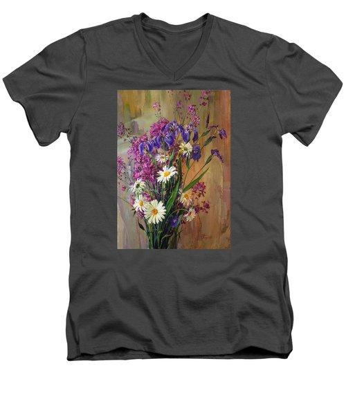 Summer Flowers Men's V-Neck T-Shirt