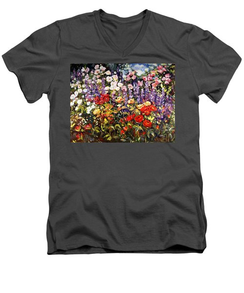 Summer Garden II Men's V-Neck T-Shirt