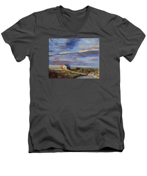 Summer Glow Men's V-Neck T-Shirt by Trina Teele