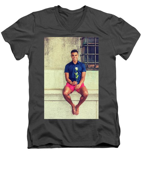 Summer In City Men's V-Neck T-Shirt