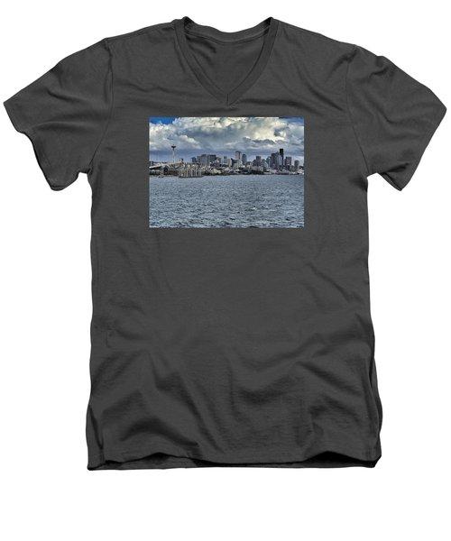 Summer In Seattle Men's V-Neck T-Shirt