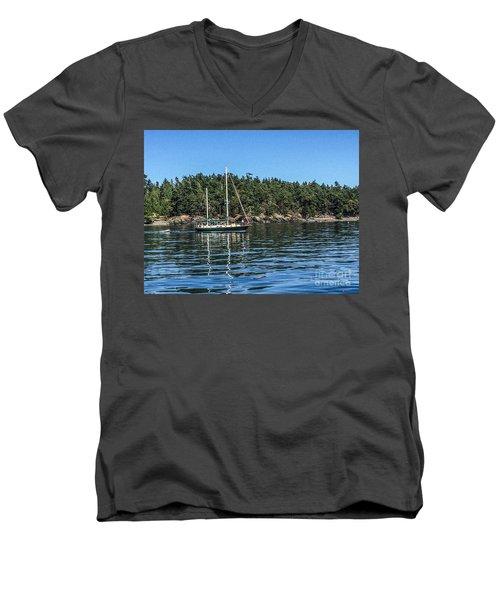 Summer In The San Juan's Men's V-Neck T-Shirt by William Wyckoff