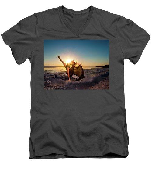 Summer Kicks Men's V-Neck T-Shirt