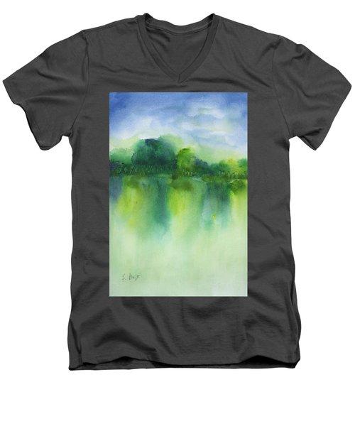 Summer Landscape Men's V-Neck T-Shirt
