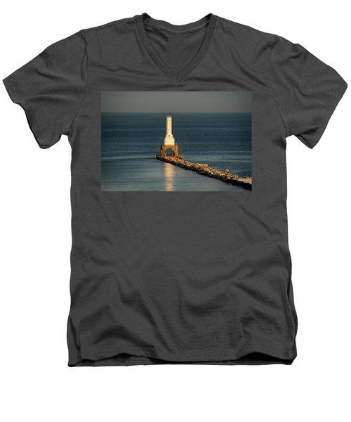 Summer Lighthouse Men's V-Neck T-Shirt
