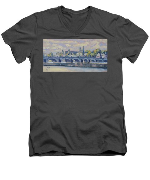 Summer Maas Bridge Maastricht Men's V-Neck T-Shirt