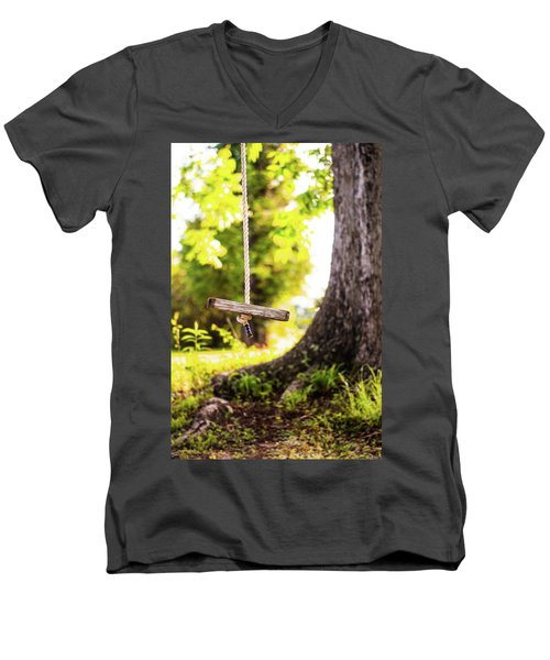 Men's V-Neck T-Shirt featuring the photograph Summer Memories On The Farm by Shelby Young