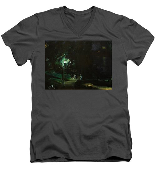 Summer Night Riverside Drive Men's V-Neck T-Shirt