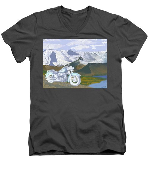 Summer Ride Men's V-Neck T-Shirt by Terry Frederick
