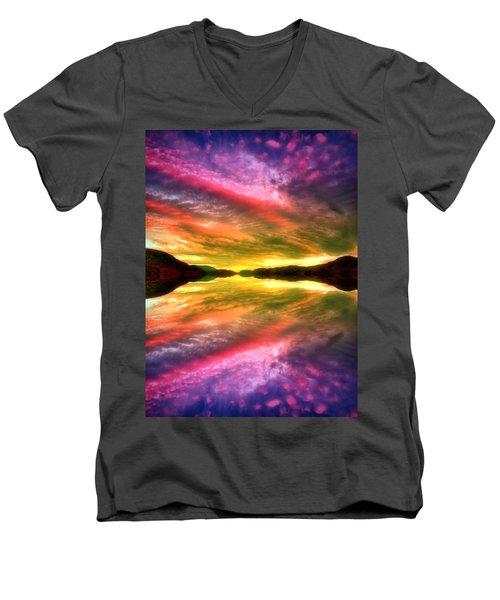 Summer Skies At Skaha Men's V-Neck T-Shirt by Tara Turner